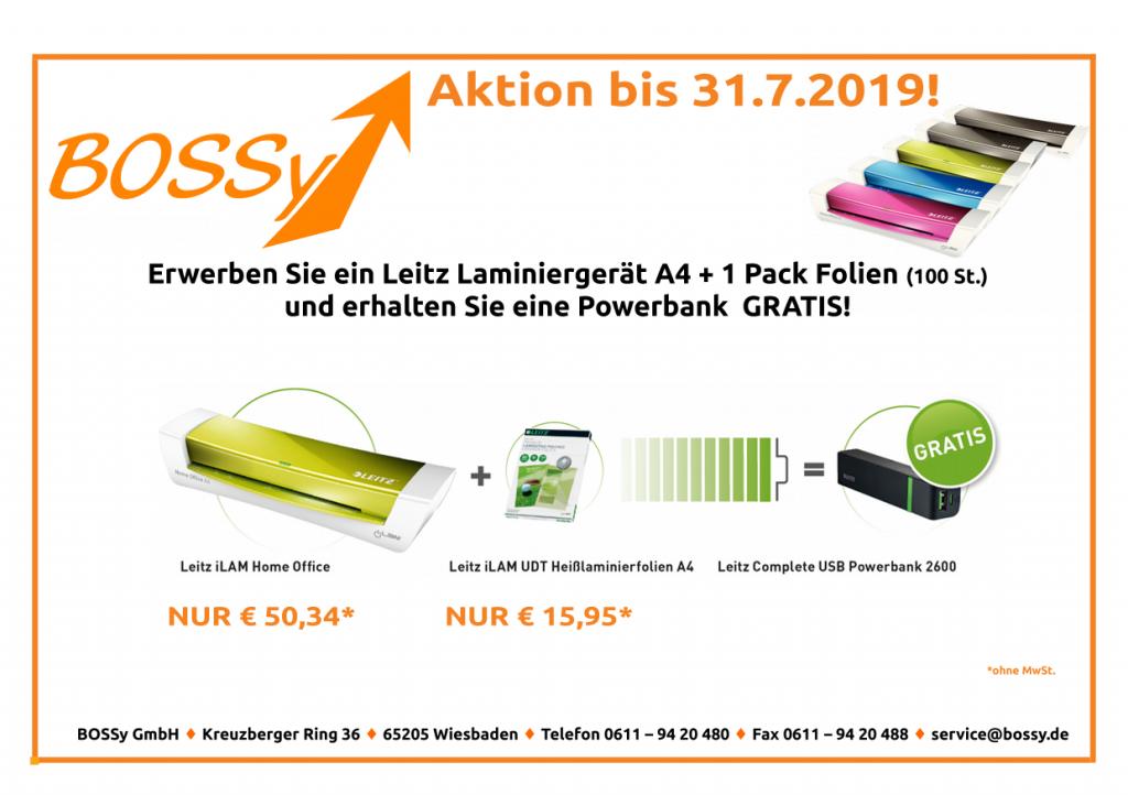 Laminiergerät+Folien gratis Powerbank